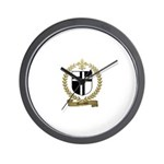 AUCOIN Family Crest Wall Clock