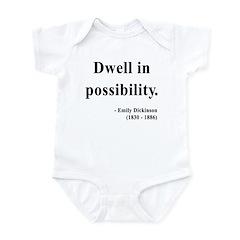 Emily Dickinson 2 Infant Bodysuit