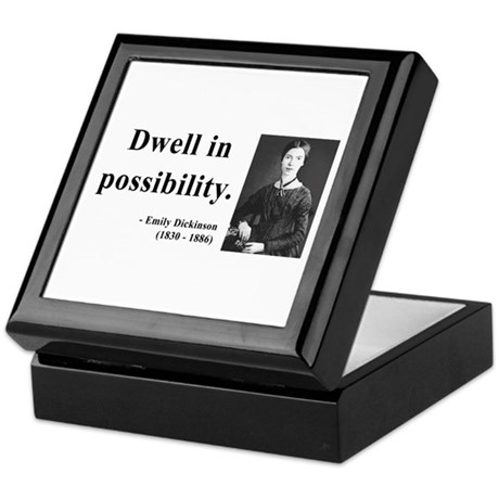 Emily Dickinson 2 Keepsake Box