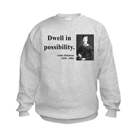 Emily Dickinson 2 Kids Sweatshirt