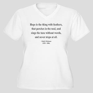 Emily Dickinson 1 Women's Plus Size V-Neck T-Shirt