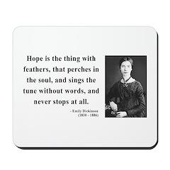 Emily Dickinson 1 Mousepad