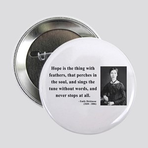 """Emily Dickinson 1 2.25"""" Button"""
