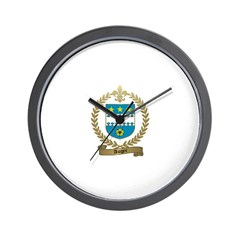 AUGER Family Crest Wall Clock