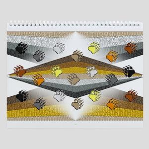 13 BEAR PRIDE DESIGNS W/BEAR PAWS Wall Calendar
