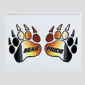 13 BEAR PRIDE BEAR PAWS Wall Calendar