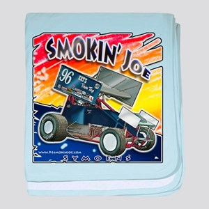 Smokin' Joe color splash baby blanket