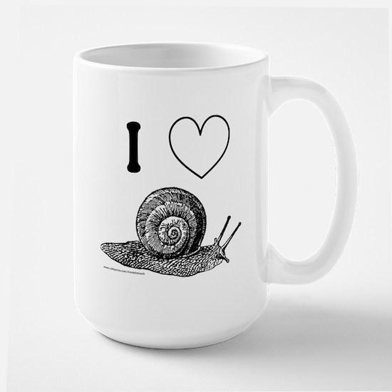 I HEART SNAILS Large Mug