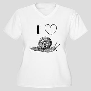 I HEART SNAILS Women's Plus Size V-Neck T-Shirt