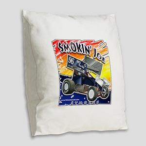 Smokin' Joe color splash Burlap Throw Pillow