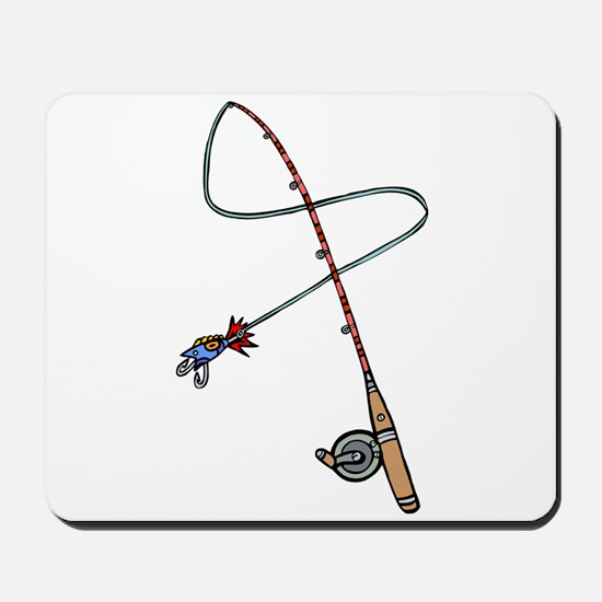 Rod and Reel Mousepad