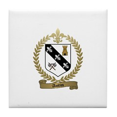 AUTIN Family Crest Tile Coaster