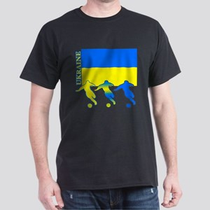 Ukraine Soccer Dark T-Shirt
