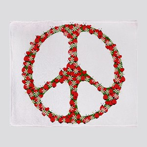 Ladybugs Peace Sign Throw Blanket