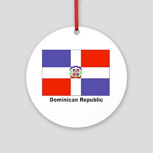Dominican Republic Flag Keepsake (Round)