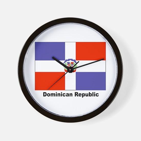 Dominican Republic Flag Wall Clock