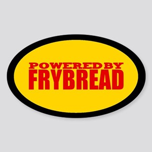 Powered By Frybread Oval Sticker