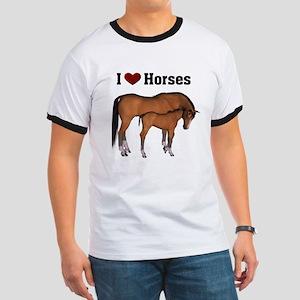 Love My Horse Ringer T