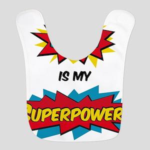 Math is my Superpower Polyester Baby Bib