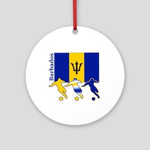 Barbados Soccer Ornament (Round)