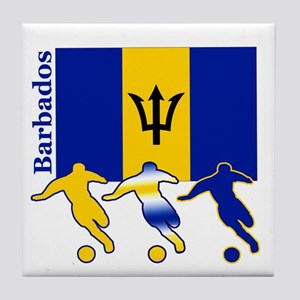 Barbados Soccer Tile Coaster