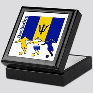 Barbados Soccer Keepsake Box