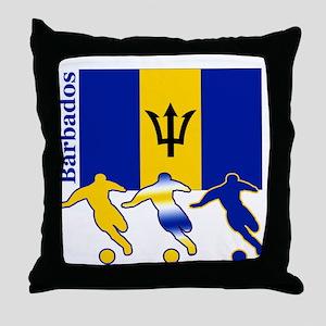 Barbados Soccer Throw Pillow