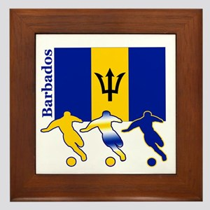 Barbados Soccer Framed Tile
