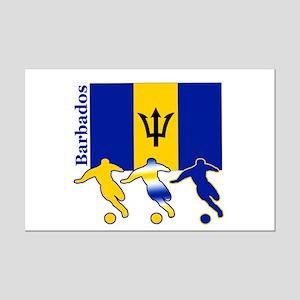 Barbados Soccer Mini Poster Print