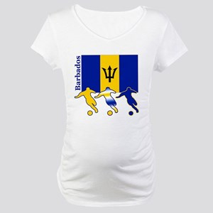 Barbados Soccer Maternity T-Shirt