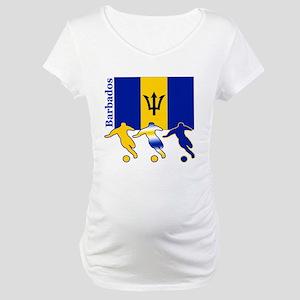 Barbados Soccer Maternity T-Shirt