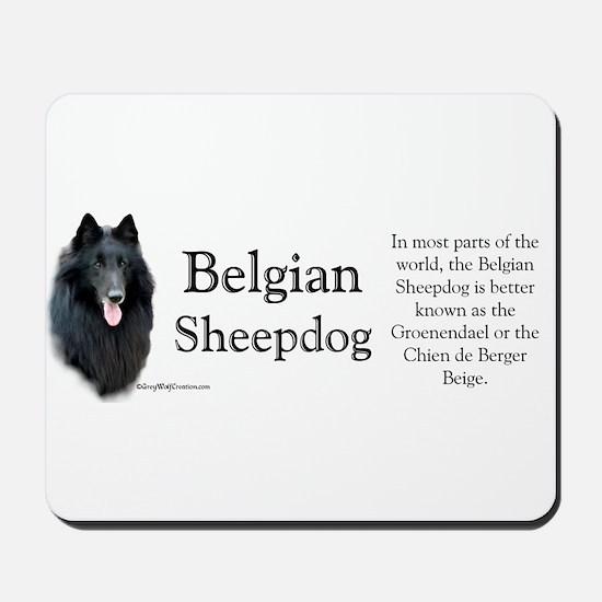 Belgian Sheep Profile Mousepad