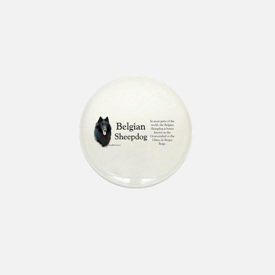 Belgian Sheep Profile Mini Button