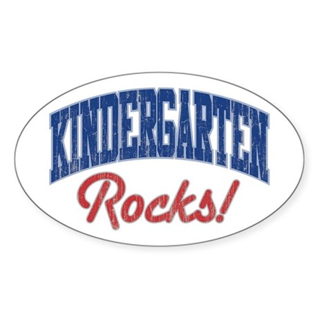 KINDERGARTEN ROCKS! Oval Sticker (10 pk)