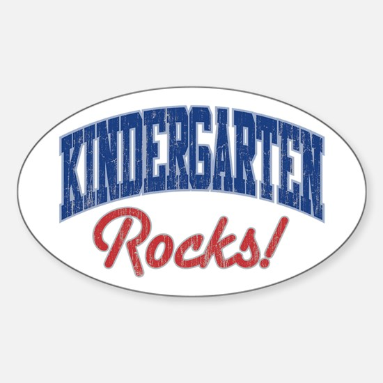 KINDERGARTEN ROCKS! Oval Sticker (10 pk)
