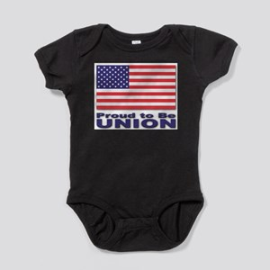 Proud to be Union Infant Creeper Body Suit