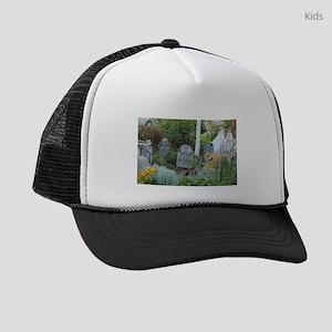 Goth garden grave yard Kids Trucker hat