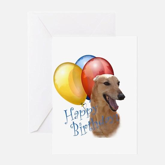 Greyhound Balloon Greeting Card