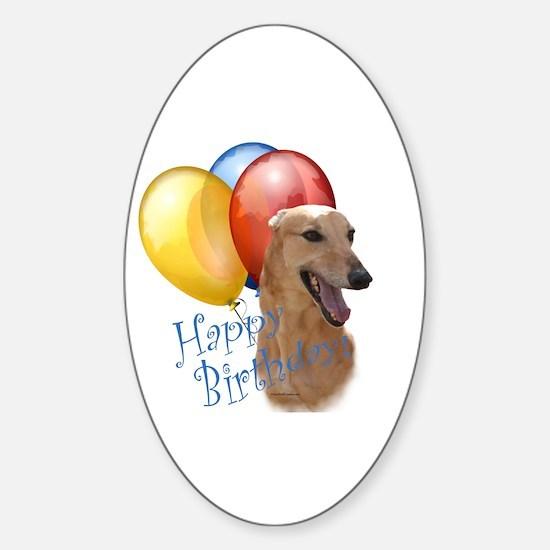 Greyhound Balloon Oval Decal