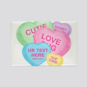 Fun Candy Hearts Personalized Magnets