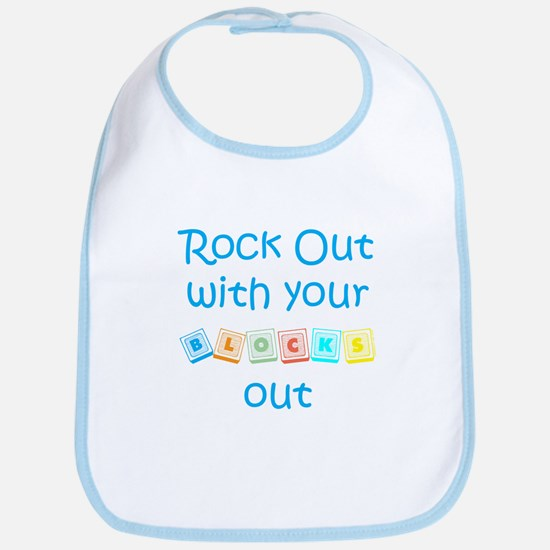 Rock Out With Your Blocks Out Bib