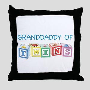 Granddaddy of Twins Blocks Throw Pillow