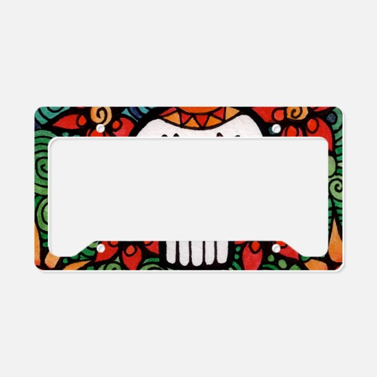 Cute Latino pride License Plate Holder