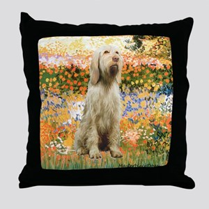 Garden Fiorito/ Spinone Throw Pillow
