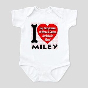 I Love Miley Stop Exploiting Infant Bodysuit