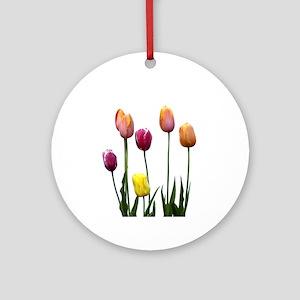 Multi-colored Tulips Keepsake (Round)