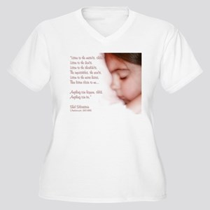 Sleeping Angel - Wmn's + Size V-Neck T-Shirt