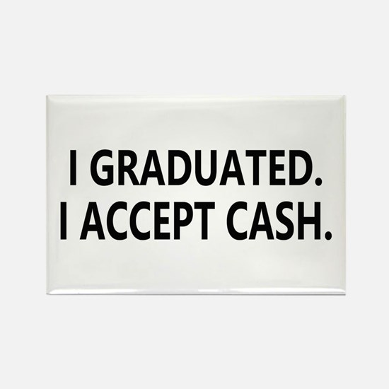 Graduation Cash Rectangle Magnet (100 pack)