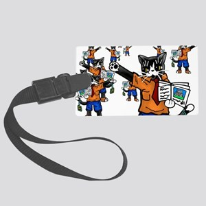 Tour guide Cats Large Luggage Tag