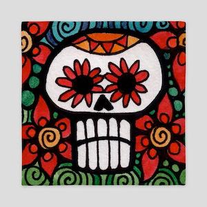 Day of the Dead Flower Skull Queen Duvet